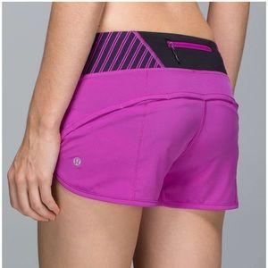 Lululemon Run: Speed Short in Ultra Violet